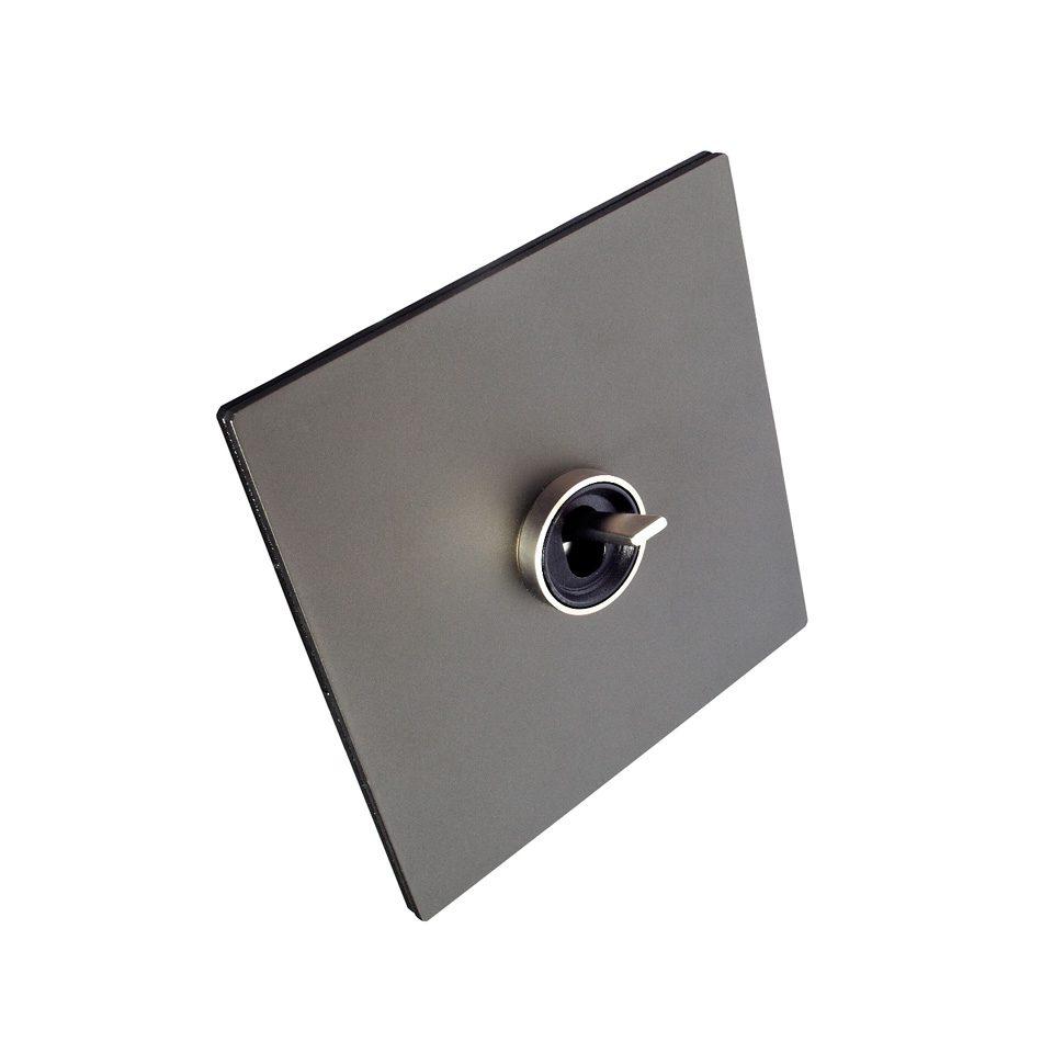 FONT BARCELONA 5.1 Collection - kryt černý hliník, kroužek a páčka chrom
