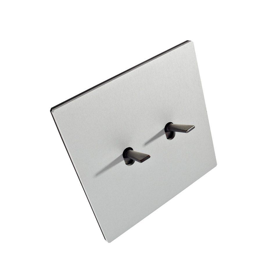 FONT BARCELONA 5.1 Collection  - kryt hliník stříbrný, dvě páčky nikl