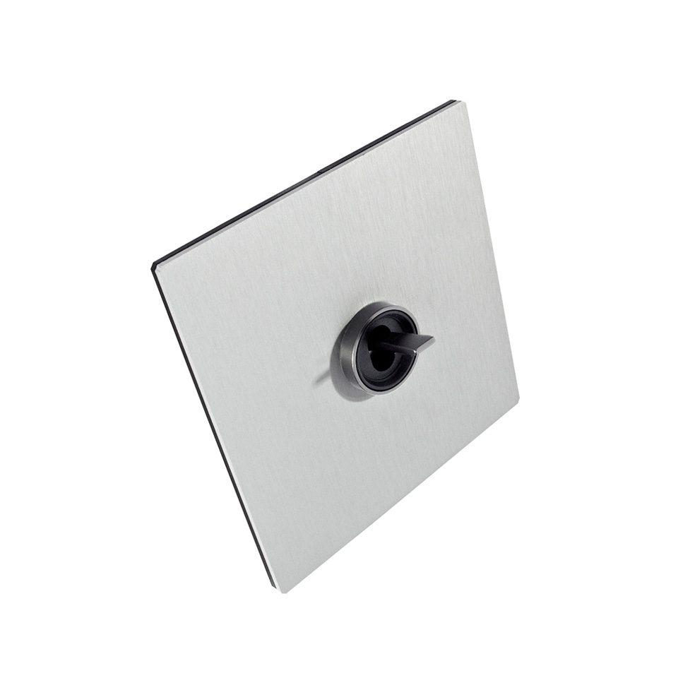 FONT BARCELONA 5.1 Collection - kryt hliník stříbrný, kroužek a páčka nikl