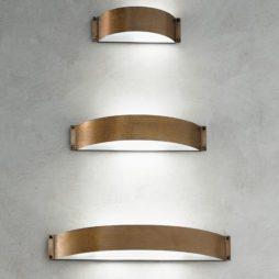 Nástěnné mosazné svítidlo Linea Fashion Aldo Bernardi