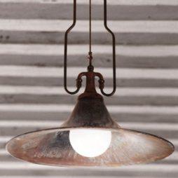 Závěsné stropní mosazné svítidlo Linea Mulino Aldo Bernardi