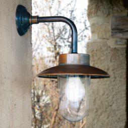 Nástěnná retro mosazná lampa Linea Nabucco Aldo Bernardi