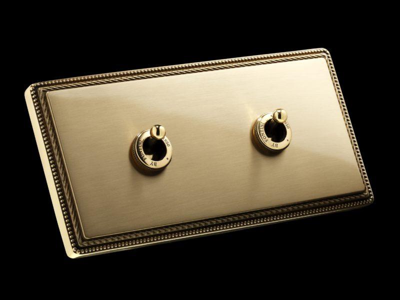 FONT BARCELONA 1950 Collection - rámeček zlatý, dvě zlaté páčky