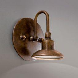 Nástěnná mosazná lampa Linea Giuiletta od Aldo Bernardi