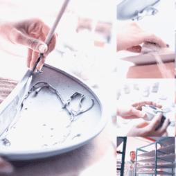 Výroba porcelánových světel Aldo Bernardi