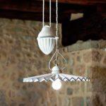 Porcelánové stropní svítidlo Linea Piega s protizávažím Aldo Bernardi