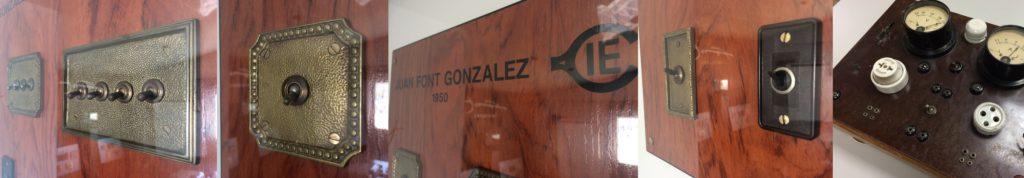 Historie zakázkových vypínačů kolekce vypínačů 1950 Collection Font Barcelona