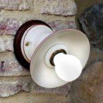 Porcelánové nástěnné svítidlo Linea Isola od Aldo Bernardi