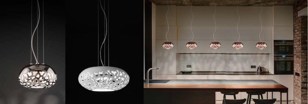 Designová porcelánová svítidla Linea Cipolle od Aldo Bernardi