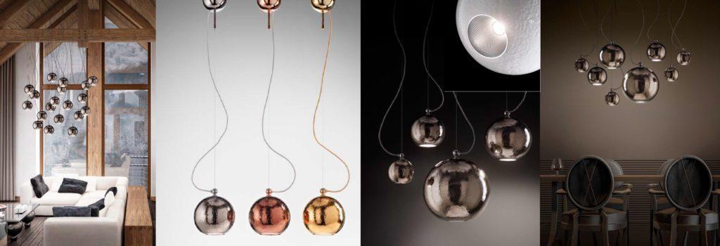 Designová porcelánová svítidla Linea Bolle od Aldo Bernardi