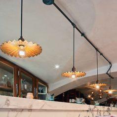 Mosazné retro svítidlo Linea Civetta s povrchovou instalací