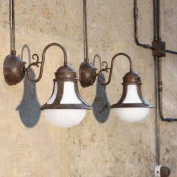 Nástěnné retro svítidlo Linea Loggia s instalací trubkového systému