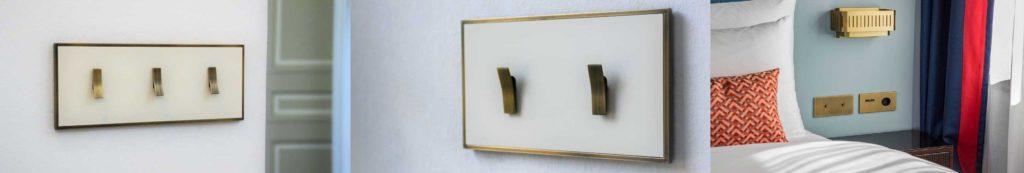 ukázka komponentů desek zakázkových vypínačů Bridge